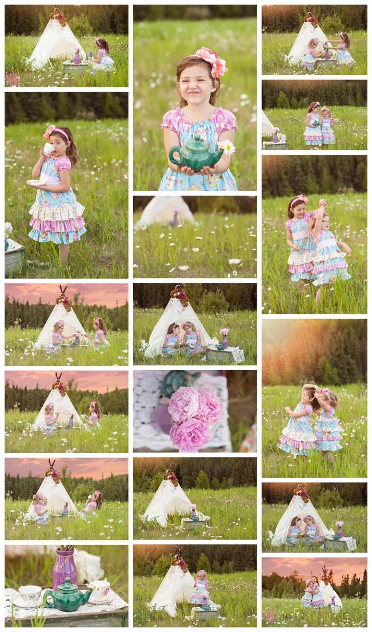 anchorage family photographer, teepee, childhood